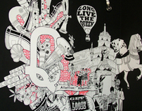 Queen of Hoxton - large scale mural