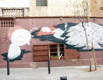 New mural in Badalona (Barcelona).