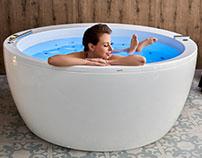 Aquatica Pamela-Wht-Spa Jetted Bathtub
