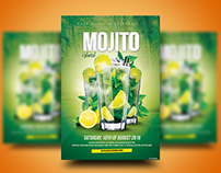 Mojito Island Cocktail Flyer