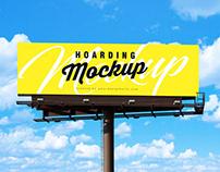Free Outdoor Advertisement Hoarding / Billboard Mockup