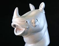 Rhino Bust Sculpt