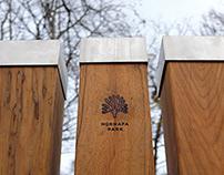 Normafa Park identity design and signage system