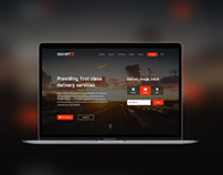 Smartex-Logistic Company Landing Page Design