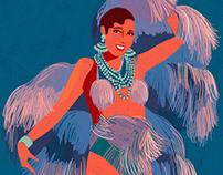 Josephine Baker - Illustrated portrait