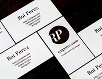 RoiPerez.com Personal Business Cards