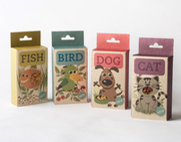 Fish, Bird, Dog & Cat