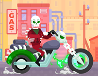 Happy Racing Characters - Ghost Rider
