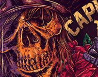 Logo Captain Rose Tattoo Studio - São Paulo - SP