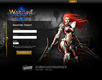Wartune - Landing Page