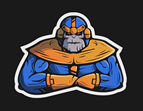 Thanos Sticker Design
