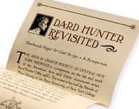 Dard Hunter Revisited | conference poster + brochure