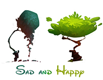 Sad and happy