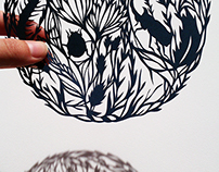 Insects and Squirrel Papercut