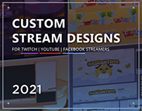 Custom Twitch Stream Overlay Packages | 2021