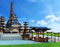 3D- Feudal Disney Castle Project