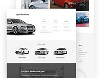 Audi Web Design Concept