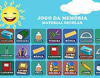 Jogo da Memória - Material Escolar