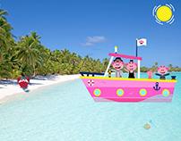 Sailing to the Maldives.