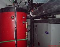 Habitat hotel 150kw heat pump open sytem