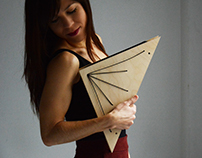 Triangle Wooden Clutch