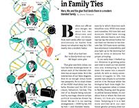 Richmond Magazine: Family tree illustration