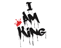 I Am King graffiti design