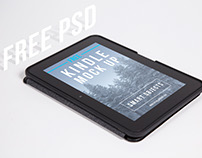 Free Kindle Fire HD Isometric Mockup