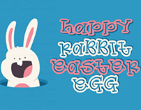 Happy easter egg font