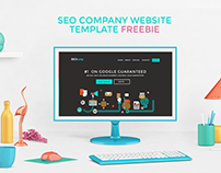 Free SEO Website Template PSD