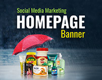 Social media Homepage Banner