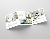 Square Tri-fold Interior Brochure