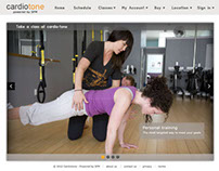 Cardiotone  fitness studio - Web UI/UX Design