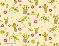 Muster Kaktus
