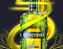 Becherovka - redesigning visual style