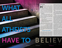 What All Atheists magazine article design