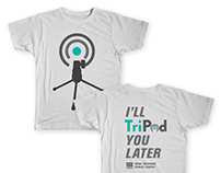 2016. Tripod Podcast T-Shirt Design
