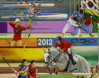 "2012 London Olympic Poster, entitled ""FOCUSING ON GOLD"""