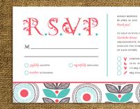 Whimsical & Rustic Wedding Invitations