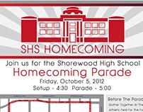 Shorewood Parade Map Design Infographic for the homecom