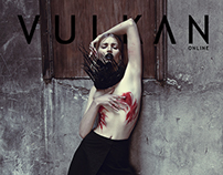 'Red As Blood' Fashion Editorial for Vulkan Magazine