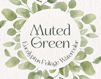 Free Muted Green Eucalyptus Watercolor Illustrations