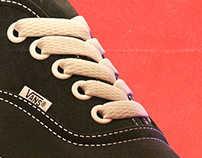 "Vintage stylized ad  -  ""Vans shoes Authentic"""