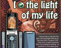 Stylish adaptation of Sony Ericsson advertising
