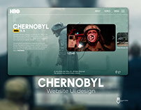 Chernobyl website UI design