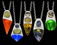 Sterling Silver Illuminated All Natural Stone Pendants
