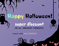 Boo! Halloween super discount!