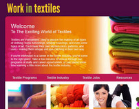 Work in textiles - website