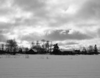rural scenes in finland, march 2012