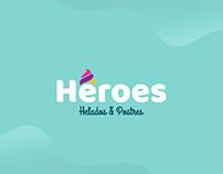Héroes, Helados & Postres / Diseño de Marca